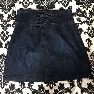 Express denim skirt